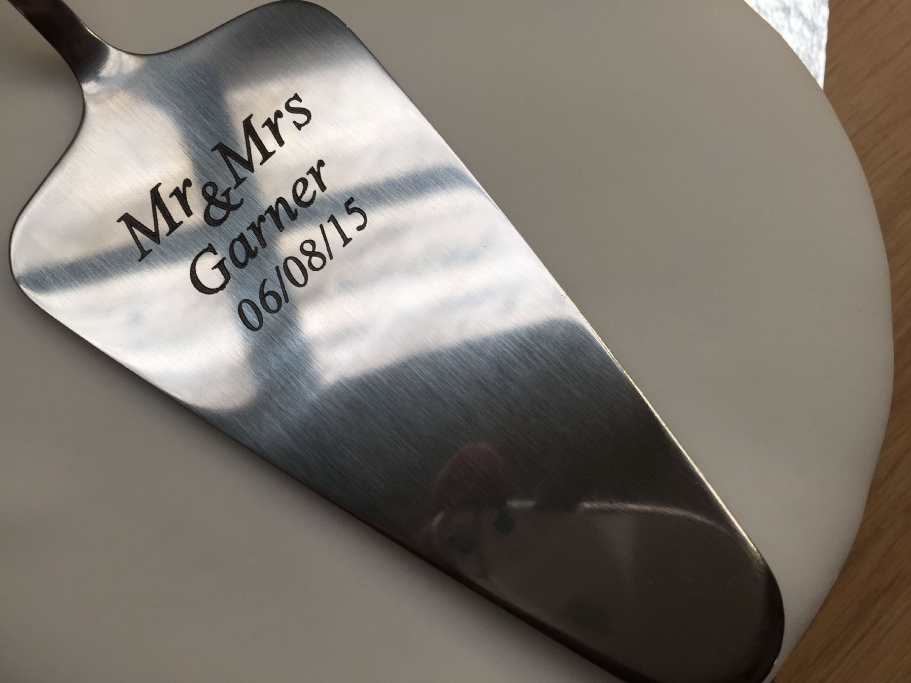 Personalised Stainless Steel Wedding Cake Slicer